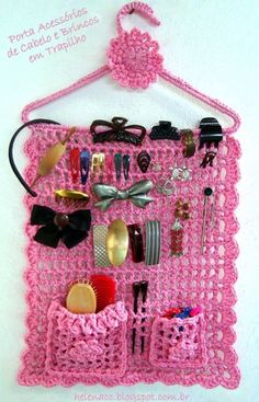 Risultati immagini per organizadores em crochet Crochet Home, Crochet Gifts, Cute Crochet, Crochet Baby, Knit Crochet, Crochet Owls, Crochet Animals, Crochet Organizer, Knitting Patterns