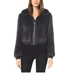 Rabbit Fur Bomber by Michael Kors
