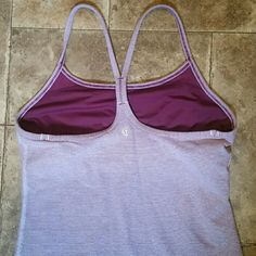 Lululemon Power Y Subtle Stripe Tank Excellent condition. Confirmed size 6. Rip tag has been taken out. lululemon athletica Tops Tank Tops