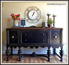 This gorgeous antique buffet belonged to the same set of the Depression Era hutch I just refinished. Two beautiful pieces of furniture. Refurbished Furniture, Repurposed Furniture, Dining Room Furniture, Furniture Makeover, Vintage Furniture, Painted Furniture, Dining Rooms, Furniture Styles, Furniture Projects