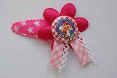 Leuke roze knip met sterretjes en flatback met hert. www.lotenlynn.nl https://www.facebook.com/lotenlynnlifestyle
