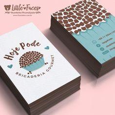 Bakery Business Cards, Letterpress Business Cards, Unique Business Cards, Business Card Design, Logo Doce, Dessert Logo, Candy Logo, Bussiness Card, Candy Cards