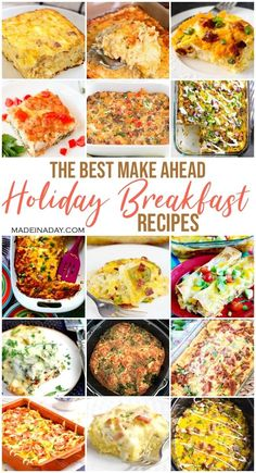Make things easy this season with 24 Holiday Breakfast Casseroles made the night before! Save time with these make ahead breakfast casseroles for every cuisine. #hashbrown #enchilada #cheese #baked #casserole #eggsbenedict #egg #hamcheese