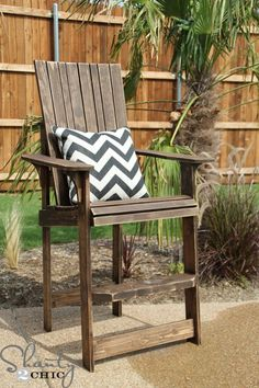 Bar Height Adirondack Chair DIY