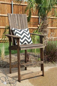 Bar Height Adirondack Chair DIY