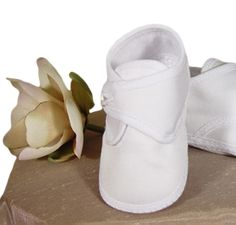 Baby Boys White Cotton Sateen Shoe w. Semi Casual Dresses, Kids Dress Shoes, Christening Shoes, Ballet Shoes, Dance Shoes, Shank Button, White Cotton, Baby Boys, Closure