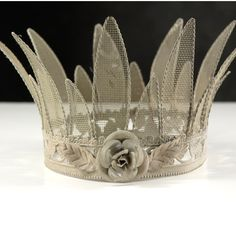 "<3 this bisque metal crown (6"" x 5"") ~ perfect as is or ready to embellish... $24"