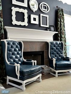 Love the paint border and frames...
