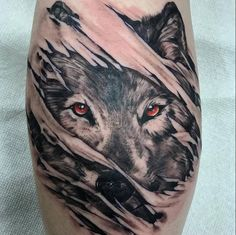 awesome 85 Meaningful Wolf Tattoo Ideas - Best Way to Define Your Personality and Attitude Check more at http://stylemann.com/best-wolf-tattoo-ideas/