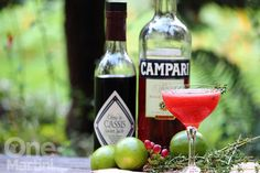 Cassis campari cocktail with tequila