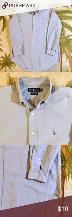 """4/$20 Polo Shirt Size 16.5 Yep that's not a misprint. Has a small spot -see pic. Get this one while it lasts. Bundle it for even more savings. 34"""" sleeve button down. Polo by Ralph Lauren Shirts Dress Shirts"""