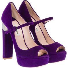Shoes ♡ Heels Miu Miu pumps   ❤ liked on Polyvore (see more platform high heel pumps)