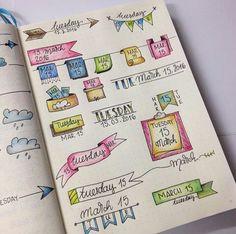 Journal // Journaling // Planner // Papelaria // DIY // Caligrafia // Dooble // Ideia // Inspiração // Datas // Date // Semana // Week