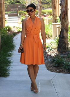 DIY Peach Dress + Pattern Review B5886 - Mimi G Style