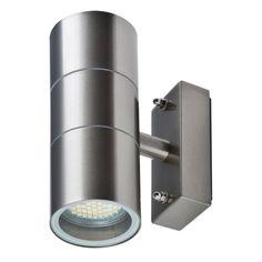 LED Wandleuchte ROM, Wandlampe, Außenleuchte, 2-Flammig, Edelstahl, Up Down, GU10-230V, (Form:A1)