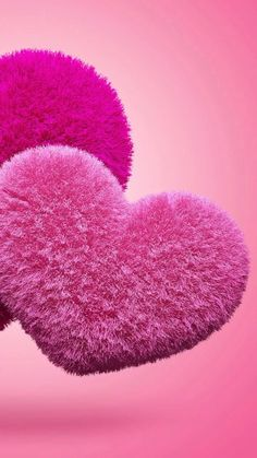 Fuzzy pink hearts