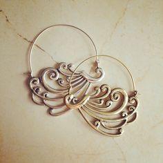 Large Brass Earrings, Boho Earrings, Tribal Earrings, Hoop Earrings, Gold Earrings, Gipsy Earrings, Tribal Belly Dance Jewellery. by LalaBoho on Etsy https://www.etsy.com/listing/234306033/large-brass-earrings-boho-earrings