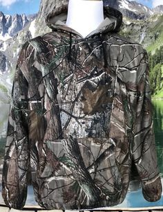 Mikkar Mens T-Shirt Tops Vest Casual Camouflage Print Hooded Sleeveless Blouse