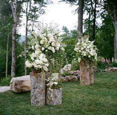 Wedding Ceremony, Mountaintop Golf & Lake Club, Flowers by: Wildflower Design, Planned by: Mariee Ami, Photo: A Bryan Photo - North Carolina Wedding http://caratsandcake.com/libbyandwhit