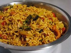 58 Ideas Recipes Rice Grains For 2019 Vegetarian Rice Recipes, Vegan Indian Recipes, Veggie Recipes, Asian Recipes, Healthy Recipes, Batch Cooking, Cooking Recipes, Vegetable Rice, Warm Food