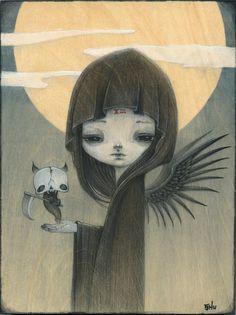 Death Gril-- limited edition print (9/30). YiShuArt
