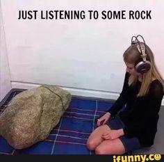 kids be like.I listen to rock music. Music Puns, Music Humor, Music Memes, Funny Music, Band Puns, Band Jokes, Visual Puns, Visual Literacy, Geology Puns