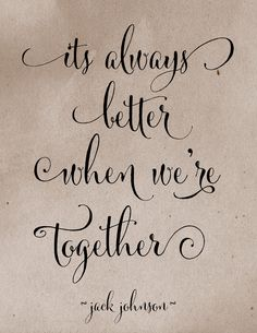 It's always better when we're together lyrics #etsy shop Words when Spoken, customized background color