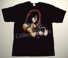 KISS Eric Carr drawing 1 CUSTOM ART UNIQUE T-SHIRT   Each T-shirt is individually hand-painted, a true and unique work of art indeed!  To order this, or design your own custom T-shirt, please contact us at info@collectorware.com, or visit  http://www.collectorware.com/tees-kiss.htm