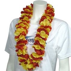 Crimson and Gold Lei's