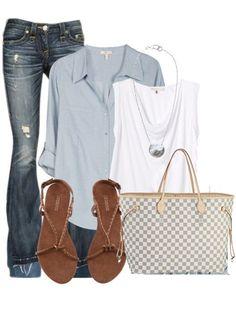 Louis Vuitton Damier Azur Canvas Neverfull Bags GM N51108 Casual Chique 064cfcffac966