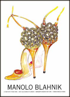 Illustration by Manolo Blahnik, from Vogue, March 2004 issue