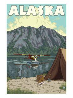 Bush Plane and Fishing, Alaska