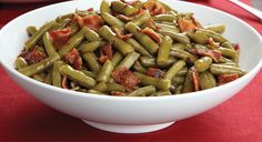 Bacon & brown sugar green beans (use fresh beans not canned!!)
