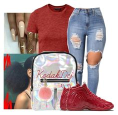 """""""Untitled #804"""" by kodakdej ❤ liked on Polyvore featuring UNIF, NIKE and MICHAEL Michael Kors"""