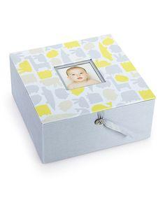Pearhead Gray & Yellow Animal Keepsake Box by Pearhead #zulily #zulilyfinds