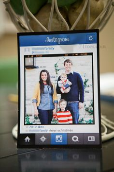 creative instagram #christmas card idea.
