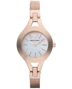 1a378297cf4 Emporio Armani Women s Rose Gold-Tone Stainless Steel Mesh Bracelet Watch  28mm AR7329 - Gold