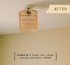 quick, easy and beautiful light fixture upgrade (designsponge)