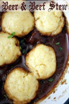 Beef & Beer Stew with Cheese Dumplings