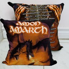 Amon Amarth Pillow DIY Folk Metal Decor (Cover Only; Insert Available) by DarkStormDesign on Etsy