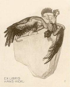 Ex Libris Hans Hickl by Franz von Bayros