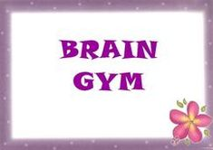 Brain Gym charts with photos