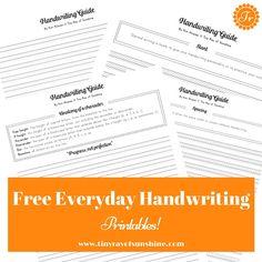 Tiny Ray of Sunshine: How To Improve your Everyday Handwriting! (+Free Handwriting Printable!) #handwriting