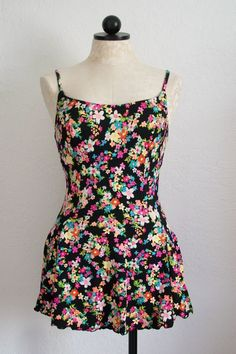 Cole of California Vintage 80s Floral One by VintageHagClothing, $35.00