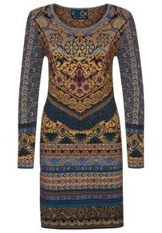 KOOI Gebreide jurk - Multicolor - Zalando.be