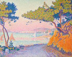 """""""Golfe Juan"""" (1896), Worcester Art Museum. Paul Signac, biografia, stile e opere."""