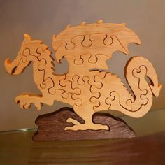 Wooden Puzzles, Wooden Toys, Dino Toys, Wood Craft Patterns, Wood Toys Plans, Scroll Saw Patterns Free, Cnc Wood, Intarsia Woodworking, Waldorf Toys