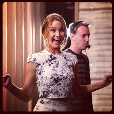 teamcoco:    Jennifer Lawrence backstage. #conan (at Warner Bros Stage 15)
