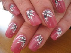 Make an original manicure for Valentine's Day - My Nails Fingernail Designs, Nail Polish Designs, Acrylic Nail Designs, Nail Art Designs, Flower Nail Designs, Colorful Nail Designs, Nail Designs Spring, Stylish Nails, Trendy Nails