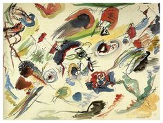 Untitled (First abstract watercolor), 1910 -  Wassily Kandinsky - WikiArt.org